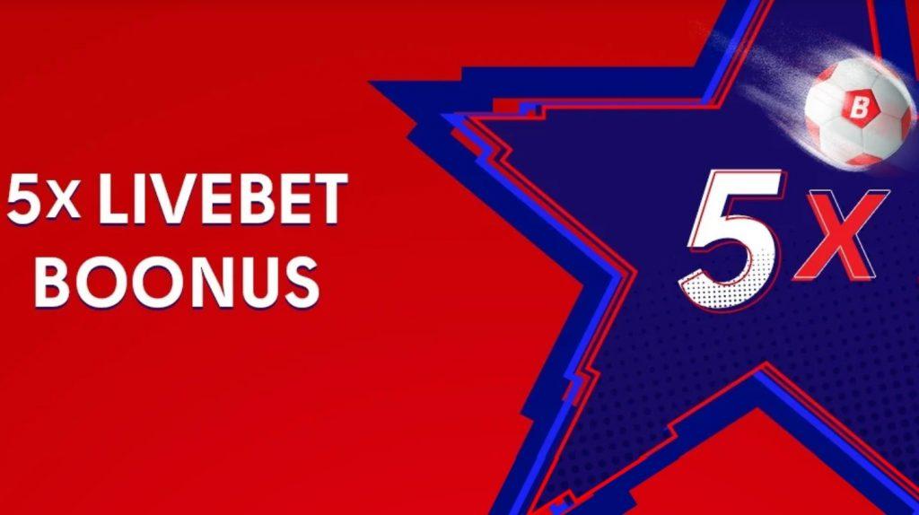 Tee OlyBetis viis 5-eurost live-panust ning saa tasuta 5-eurone panus
