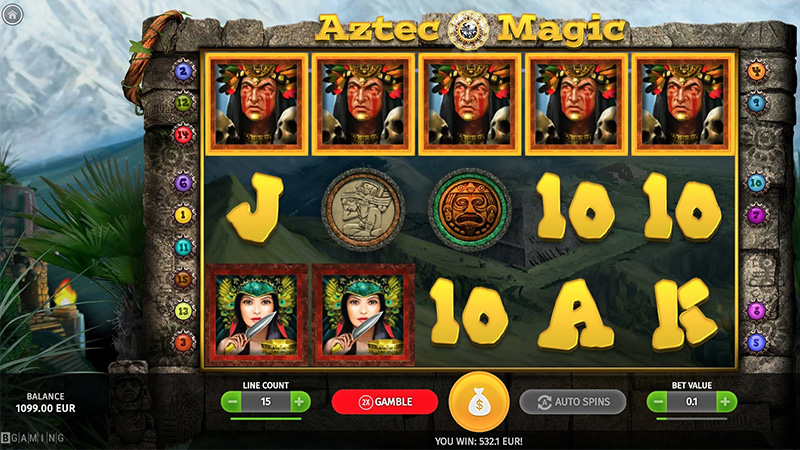 Teeni Kingswin kasiinos tasuta spinne mängus Aztec Magic