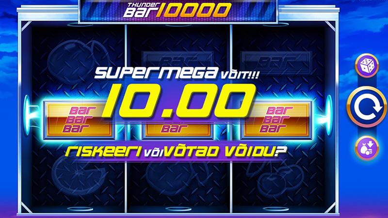 Paf online kasiino eksklusiivne slotimäng Thunderbar 10000