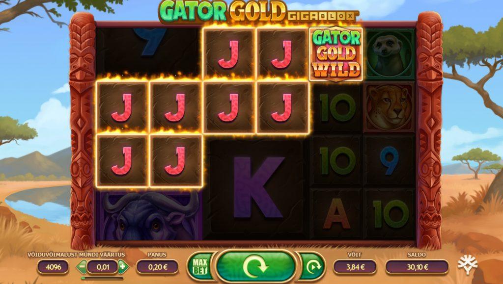 YGGdrasil 2021. aastal loodud online slotimäng Gator Gold