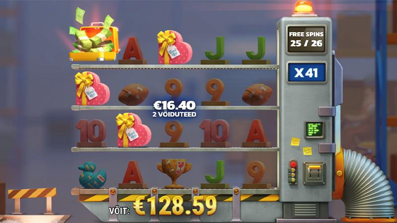 Saa 40 tasuta spinni iga päev slotimängus Pack & Cash