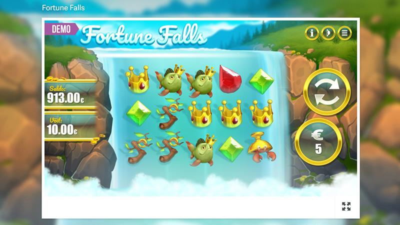 Saa 60 tasuta spinni Paf mängustuudio slotikal Fortune Falls